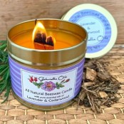 Candle Natural Lavender and Cedarwood by Gabriella Oils